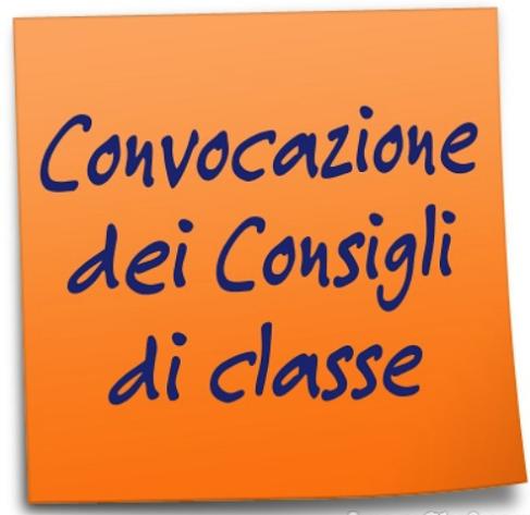Convocazione dei Consigli di classe.