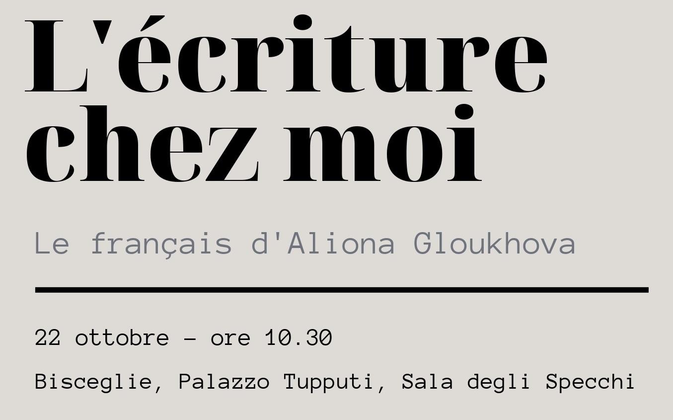 Incontro con l'autrice Aliona Gloukova