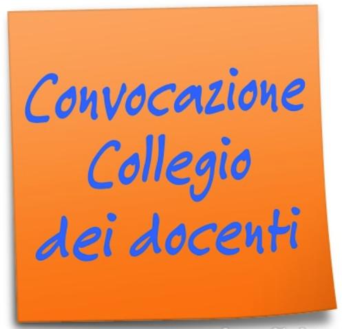 Convocazione del Collegio dei docenti.