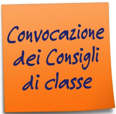 Convocazione dei Consigli di classe per le valutazioni periodiche.