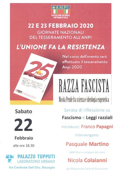 Fascismo e leggi razziali - 22 febbraio 2020.